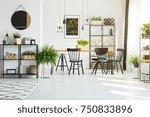 four handmade lampshades... | Shutterstock . vector #750833896