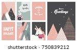 merry christmas cards ... | Shutterstock .eps vector #750839212