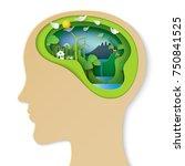 think green creative idea... | Shutterstock .eps vector #750841525