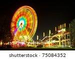 Amusement Park At Night  ...