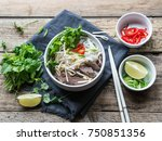 traditional vietnamese soup ... | Shutterstock . vector #750851356