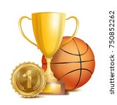 basketball award vector. sport... | Shutterstock .eps vector #750852262