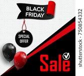 black friday. banner for your... | Shutterstock .eps vector #750854332