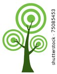 abstract green tree | Shutterstock .eps vector #75085453