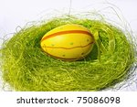 Beautiful easter eggs with great and amazing colors - stock photo