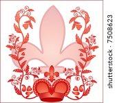 crown foliage and fleur dis les   Shutterstock .eps vector #7508623