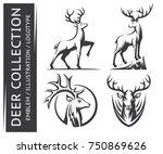 deer collections emblem ... | Shutterstock .eps vector #750869626