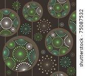 Dark Seamless Pattern With...