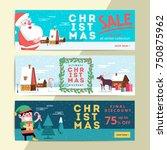 christmas social media sale... | Shutterstock .eps vector #750875962