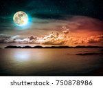 beautiful landscape view of the ... | Shutterstock . vector #750878986