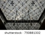 glass pyramid texture inside... | Shutterstock . vector #750881332