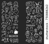 school  kindergarten. happy... | Shutterstock .eps vector #750888262
