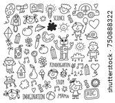 school  kindergarten. happy... | Shutterstock .eps vector #750888322