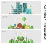 set of horizontal banners  ... | Shutterstock .eps vector #750889492