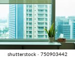 a window view fro apartment ... | Shutterstock . vector #750903442