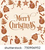 merry christmas vector card | Shutterstock .eps vector #750906952