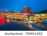 clarke quay is a historical... | Shutterstock . vector #750911332