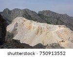 limestone quarry  mining. | Shutterstock . vector #750913552