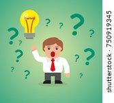 business man idea flat... | Shutterstock .eps vector #750919345