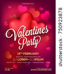 happy valentines day typography ... | Shutterstock .eps vector #750923878