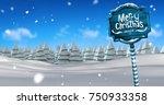 digital composite of merry... | Shutterstock . vector #750933358