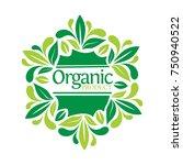 lettering organic in  leaf frame | Shutterstock .eps vector #750940522