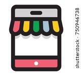 vector illustration of mobile... | Shutterstock .eps vector #750946738