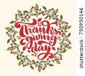 thanksgiving lettering in a...   Shutterstock .eps vector #750950146