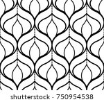seamless geometric pattern with ... | Shutterstock .eps vector #750954538
