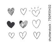 heart doodle | Shutterstock .eps vector #750955432
