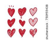heart doodle | Shutterstock .eps vector #750955438