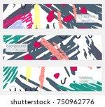 hand drawn creative universal... | Shutterstock .eps vector #750962776