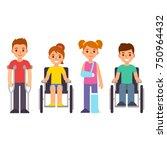 cute cartoon children with... | Shutterstock .eps vector #750964432