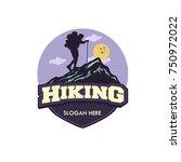 vector template hiking... | Shutterstock .eps vector #750972022