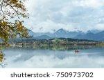 serenity morning on alpine... | Shutterstock . vector #750973702