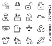 thin line icon set   factory... | Shutterstock .eps vector #750989626