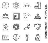 thin line icon set   atom core  ... | Shutterstock .eps vector #750999136