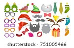 photo booth props and... | Shutterstock .eps vector #751005466