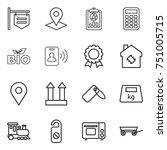 thin line icon set   shop...   Shutterstock .eps vector #751005715