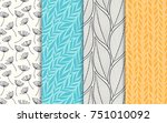 abstract decorative doodle... | Shutterstock .eps vector #751010092