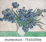 irises  by vincent van gogh ... | Shutterstock . vector #751010506