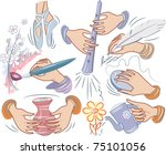 set on the theme of creativity | Shutterstock .eps vector #75101056
