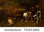 Hunting Dogs With Dead Hare  By ...