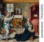 the annunciation  by joos van... | Shutterstock . vector #751013092