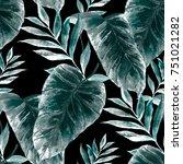 watercolor seamless pattern... | Shutterstock . vector #751021282