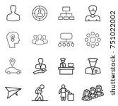 thin line icon set   man ... | Shutterstock .eps vector #751022002