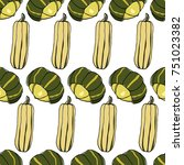 vector seamless pattern with ... | Shutterstock .eps vector #751023382