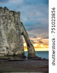 Small photo of White cliffs of Etretat and the Alabaster Coast, Normandy, France