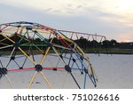 Jungle Gym And Swing Set On A...