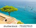 beautiful view on mediterranean ...   Shutterstock . vector #751027015